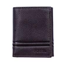 Fossil ML4006201 Wilder Men's Dark Brown Leather Trifold ID 6 Card Slot Wallet