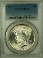 1923 Peace Silver Dollar $1 Coin PCGS MS-63 (2)
