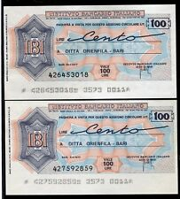 IBI IST.BANCARIO ITALIANO 1977 DITTA ORIENFILA BARI/ 2 DATE/PAPER MONEY FDS/UNC