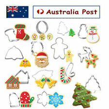 14pcs Stainless Steel Christmas Cookie Cutters Xmas Baking Cake Fondant Mold Kit