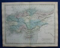 ANCIENT ASIA MINOR, TURKEY, CYPRUS, original antique map, Butler, Hall, 1861