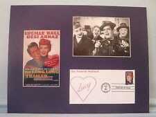 Lucille Ball & Desi Arnaz in I Love Lucy & First Day Cover of I Love Lucy stamp