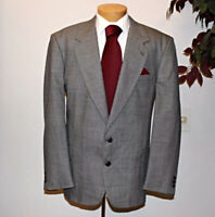 'MICHAEL LAWRENCE' Mens 2 Button Gray Wool Classic Coat Blazer Jacket SZ (46R)