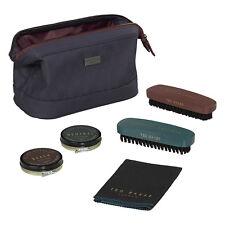 Ted Baker - 5 Piece Shoe Shine Kit in Blue Cadet Zip Case