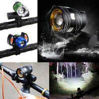 USB Rechargeable 20000LM XM-T6 LED Bicycle Light Zoom Bike Front Lamp Rear Light