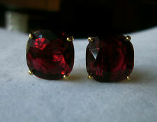 GUMDROP KATE SPADE RED SQUARE CUSHION CUT STUD EARRINGS +MULTI STONE NECKLACE