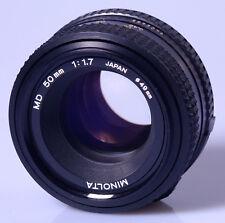 OBJECTIF ROKKOR 1,7/50mm MINOLTA MD n°8329095