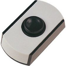 Black and white low voltage Dencon door bell push button 6cm x 3.4cm new