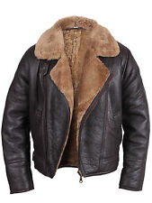 Men's Aviator RAF B3 Real Shearling Sheepskin Leather Bomber Flying Jackets