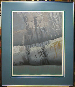 Allen Smuytlo Greenland Fiord Stunning Color Etching Important Canadian Artist
