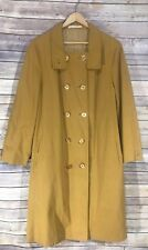 Misty Harbor Trench Coat Bouy Cloth Size: 16 Mustard Vintage Rain Coat Jacket