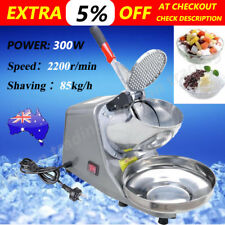 Electric Ice Crusher Shaver Commercial Machine Snow Cone Maker 85KG/H 2200R/min