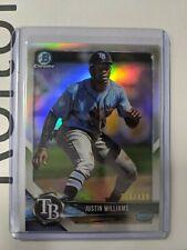 2018 Bowman Chrome Refractor Justin Williams 368/499 Rays