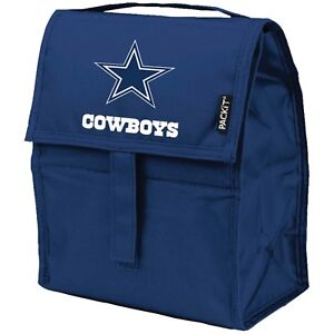 Dallas Cowboys PackIt Lunch Bag, NFL Freezable Lunch Box
