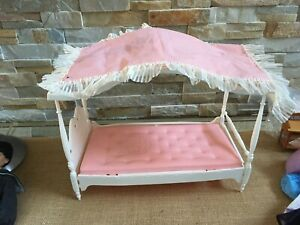 """Vintage BARBIE 1962 Susy Goose Four-Poster Canopy DOLL BED for 12"""" doll & scenes"""