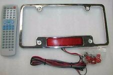 Chrome Red LED Moving Scrolling Message License Plate Frame Digital Brake Light