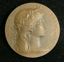French Music Festival Award Bronze Medal by Daniel Dupuis - Art Nouveau Marianne