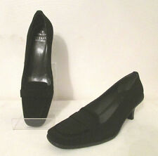 Stuart Weitzman Women's Shoes Heels Pumps 8 M Gore-Tex Microfiber Penny Loafers
