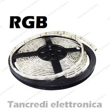 Striscia led RGB 5050 1 metro bobina waterproof tenuta stagna smd strip esterno
