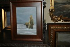 Vintage Grizzly Bear   Oil  Painting