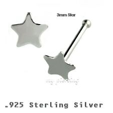 2pcs. 22g (6mm) .925 argento sterling NASO with 3mm SAR TOP NASO
