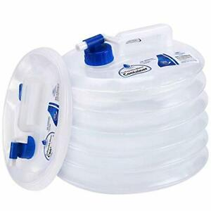 Collapsible Water Container, Premium Portable Water Storage Jug Food 2.6 Gal