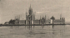 Palace on Ilha Fiscal Island. Custom house, Rio de Janeiro bay. Brazil 1885