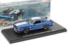1976 FORD MUSTANG II Cobra II Blue w/White Stripes - 1/43 GREENLIGHT