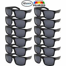 Polarized Sunglasses 12 PACK Wholesale Bulk Lot OG All Black Sport Glasses New