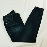 Lane Bryant Womens High Rise Skinny Size 16 Dark Blue Elastic Waist Stretch NWT