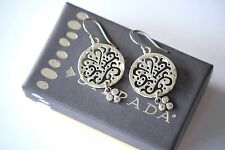 "Silpada NEW ""Cut Above"" Sterling Silver Cubic Zirconia Filigree Earrings W2368"