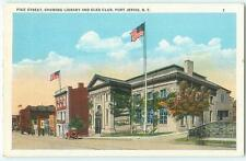 Port Jervis New York Pike St Library Elks Club NY 1920s Antique Postcard 23237