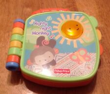 Fisher Price Nighty Night Monkey Taling Interactive Baby Book Light Up Music Toy