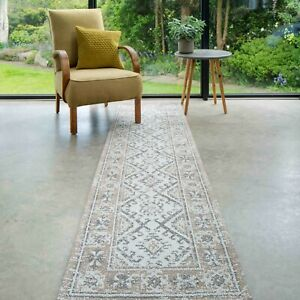 Eco Friendly Runner Rugs | Tribal Moroccan Cotton Area Mat | Low Pile Faded Rug