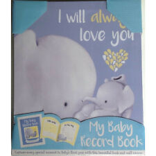 My Baby Record Book and Canvas. Elephant Design. Maternity Gift Baby Shower New