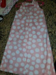 Halo Pink and White Fleece Sleep Sack Large 12-18m