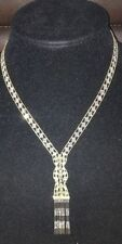 """Pre-Owned 14K Gold/Silver Bead Hula Necklace Jewelry 17"""" - $1999 Sold Out!!!"""