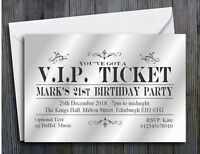 30 PARTY INVITATIONS PERSONALISED 18th 21st 30th 40th 50th 60th Birthday Invites