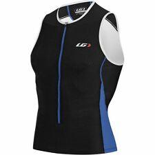 NEW Louis Garneau Mens Pro Sleeveless Tri Jersey Carbon-X Mesh Black/Royal Blue
