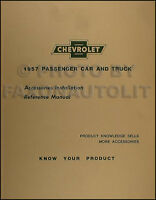 1957 Chevy Accessory Installation Manual 57 Chevrolet Car and Truck Accessories