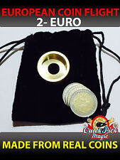 MAGIC COIN FLIGHT - 2 EURO COIN IN FLIGHT - TWO EURO COIN FLIGHT MAGIC TRICK
