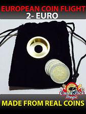 MAGIC COIN FLIGHT - 2 EURO COIN IN FLIGHT - TWO EURO COIN FLIGHT MAGIC TRICK