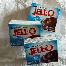 Lot of 3 Jell-O Chocolate Sugar Free Fat Free Instant Pudding Pie Filling 2.1oz