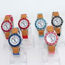 6pcs Wholesale Fashion Fabric Strap Kids Boy Girl Learn Time Quartz Watch U32M6
