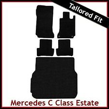 Mercedes C-Class Estate Automatic 2007-2014 Tailored Carpet & Boot Mats BLACK