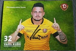 Autogrammkarte - Vasil Kusej / SG Dynamo Dresden - 2019/2020 - ABGANG