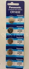 5 pc PANASONIC / SONY CR1632 LITHIUM 3v BATTERY CR 1632
