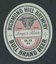 Bull brand Beer, subalmacén Beer, bremen cerveza etiqueta del frasco (hb-004)