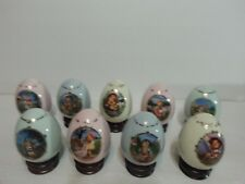 Collectible Lot of (9) Mj Hummel Porcelain Egg Collection, Danbury Mint