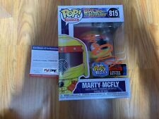 "Funko Pop Signed Michael J Fox ""Marty Mcfly"" Back To The Future PSA-IP NYCC C"
